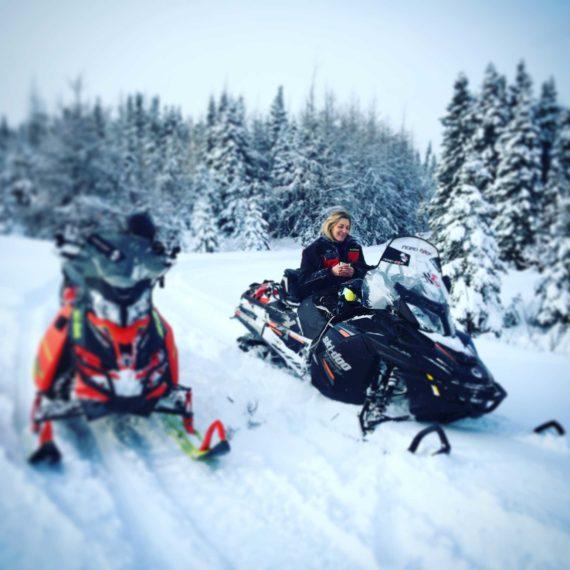 randonnée motoneige navette depuis Québec ville