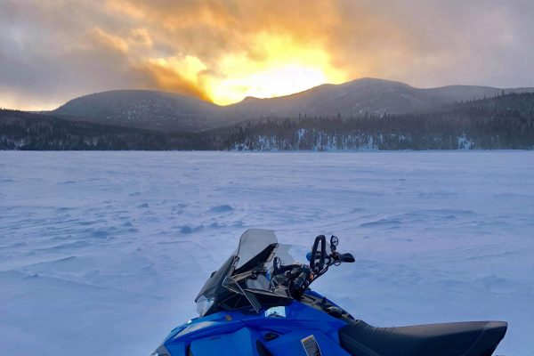 2 days snowmobile package Backcountry in the Laurentian reserve