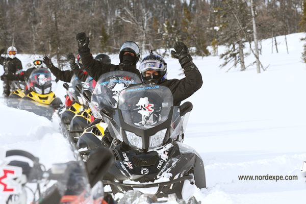 4 days snowmobile trip Quebec  Charlevoix
