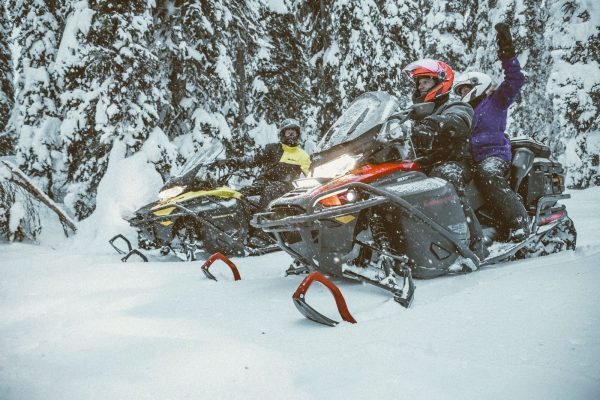 One day snowmobile guided tour shuttle & Lunch include