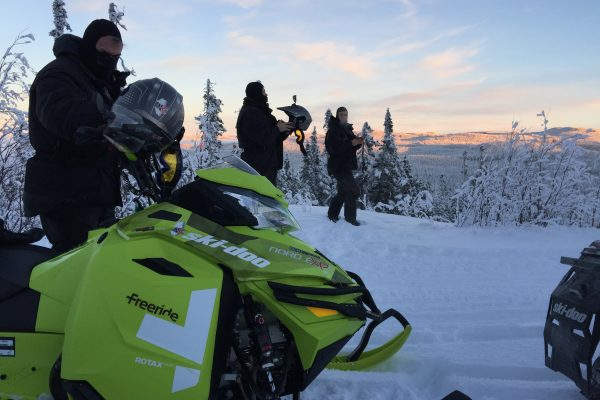 New year Eve snowmobile Tour